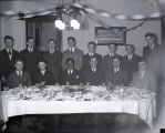 Ralph Metcalfe and Conrad Jennings at banquet, 1934?