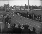 Ralph Metcalfe wins sprint at MU-Wisconsin dual meet, 1934?