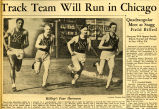 Newsclipping about Marquette's 4 x 100 relay team, 1932