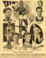 Newspaper composite of collegiate track and field athletes, 1933
