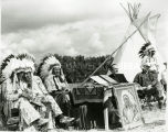 Chiefs and Father Ted Zeurn, S.J., at Chief Red Cloud induction, 1966