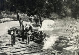 Men constructing dam at Holy Rosary Mission, n.d.