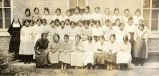 Older girls with Franciscan sister, 1921