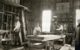 Lakota boys in cabinet making shop, n.d.