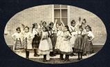Lakota girls in European folk dance, n.d.