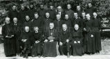 Jesuits and Bishop McCarty, C.Ss.R., at Diamond Jubilee of Brother Michalowski, S.J., 1949