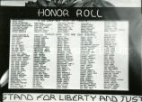 Honor roll of past students who served in the World Wars, n.d.