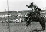 Bronc riding at rodeo, 3 of 3, n.d.