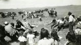 Cowboy tug-of-war contest, n.d.