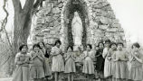 Students at Marian shrine, n.d.