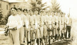 Coach Clifford and boys' baseball team, 2 of 2, n.d.