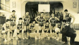 Coach Clifford and high school boys' basketball team, 1939