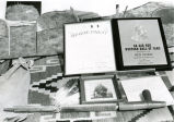 Certificates, picture, and pipe from postumous induction ceremony for Chief Red Cloud, 1966