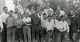 Camp DeSmet campers with Jesuit, n.d.