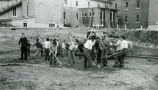 Student workers beginning excavation, n.d.
