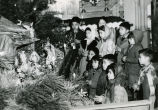 Children viewing crèche, n.d.