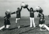 Cheerleaders outdoors, n.d.
