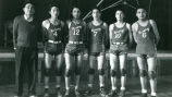 Coach Clifford and boys' basketball team, 1948