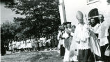 Confirmation procession led by Bishop McCarty, C.Ss.R., n.d.