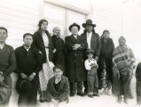 Father Sialm, S.J., and congregation, n.d.