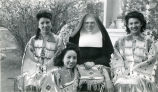 Gloria Graham, Sister Emelia Weiler, O.S.F., Olivia Black Elk, and Gloria Clifford, n.d.