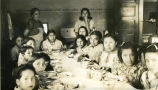 Young students dining, 2 of 3, n.d.