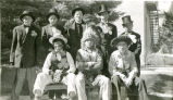 Student actors in diverse costumes, n.d.