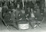 Indian singers at drum of Ken Eagle Chasing, n.d.
