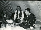 Elders dining in tipi, n.d.