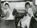 Two girls in first communion dresses, n.d.