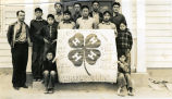 4H club with banner, n.d.