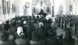Funeral service in church, 1946