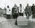 Grave site ceremonies for Chief James H. Red Cloud, 1960