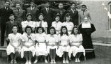 Eighth-grade graduates and Sister Elenius, O.S.F., 1942
