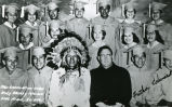 High school graduates with elder and Father Edwards, S.J., 1960