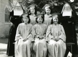 Graduating high school girls with Franciscan sisters, 1944