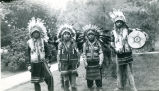 """Marquette boys"" in chiefs' costumes, n.d."