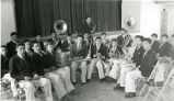 High school band with bandmaster Joe Blue Horse, n.d.