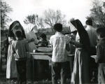 Relgious sisters serving picnic lunch, n.d.