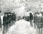 Student cadet honor guard welcoming guests, n.d.