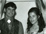 Pierre and Gloria Pourier, at prom, 1975