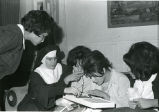 Student playing puzzle game, n.d.