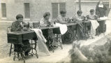 Students with sewing machines, n.d.