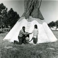 Edgar Red Cloud and Eva Black Bear by tipi, n.d.