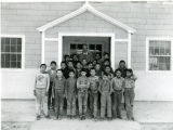 Elementary school boys and teacher, n.d.