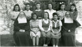 High school girls and Franciscan sisters, n.d.