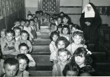 Primary grade class with Franciscan sister, n.d.