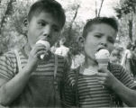 Boys with ice cream cones, n.d.