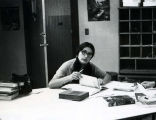 Older student studying at desk, n.d.
