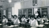 High school typing class with Sister M. Spes, O.S.F., n.d.